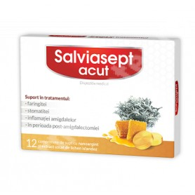 SalviaSept Acut Zdrovit - 12 cpr