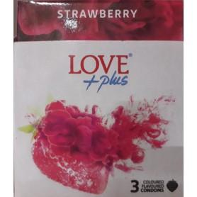 Prezervativ, Love Plus Strawberry, 3 bucati