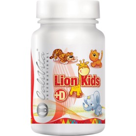 Lion Kids cu Vitamina D, 90 tablete, Calivita