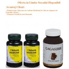 Oferta Carbune Medicinal Capsule 60cps, 2 flacoane Gratis