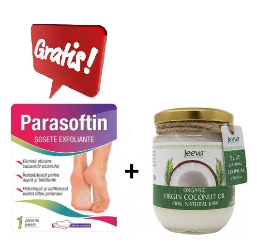 Sosete Parasoftin Gratis + Ulei de Cocos pentru pielea piciorului