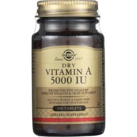 Vitamina A, 5000 IU, 100 cps, Solgar