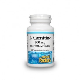 Carnitina, 500 mg, 60 capsule vegetale