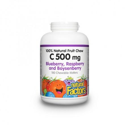 Vitamina C cu afine (Blueberry) - 90 de tablete masticabile