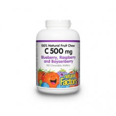 Vitamina C cu afine (Blueberry) - 90 de tablete masticabile