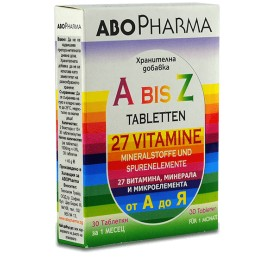 A-Z 27 Vitamine + Minerale si Microelemente, 30 cpr