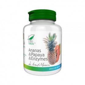 Ananas, Papaya, Enzymes, 100 cpr
