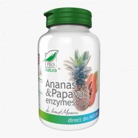 Ananas, Papaya, Enzymes, 60 cpr