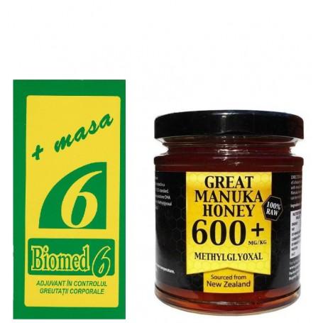 Biomed 6 - Miere de Manuka MG 600+ pret ieftin