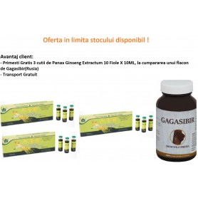 Oferta 3X Panax Ginseng Extractum, 10 Fiole X 10ML, Gratis