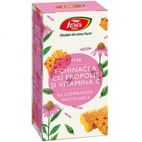Echinacea cu Propolis si Vitamina C, 63 cpr