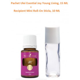 Pachet Ulei Esential Joy Young Living, 15 ML + Recipient Mini Roll-On Sticla, 10 ML