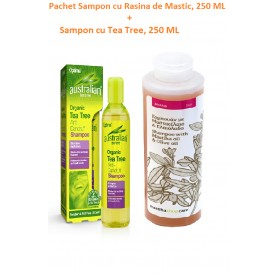 Sampon cu Rasina de Mastic, 250 ML + Sampon cu Tea Tree, 250 ML