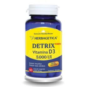 Detrix Forte, Vitamina D3 5.000UI, 60 cps vegetale