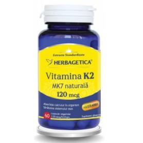 Vitamina K2 MK7 Naturala 120 Mcg, 60 cps vegetale