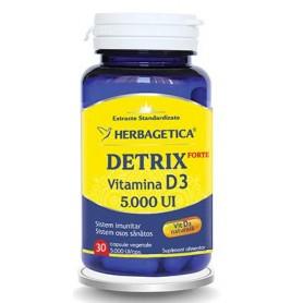 Detrix, Forte Vitamina D3 5.000UI, 30 cps vegetale
