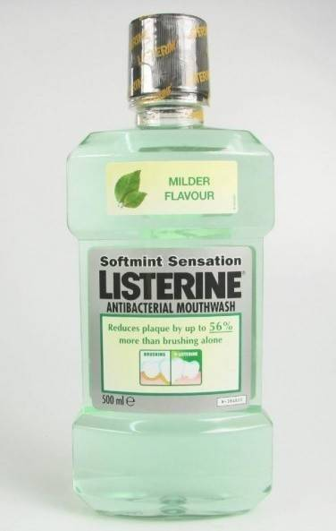 listerine softmint antibacterial 500ml