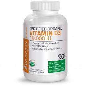 Vitamina D3, 10000UI, 90 cps Bronson