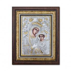 Icoana argintata, Maica Domnului Imparateasa Anagheni 36x44cm K700-403