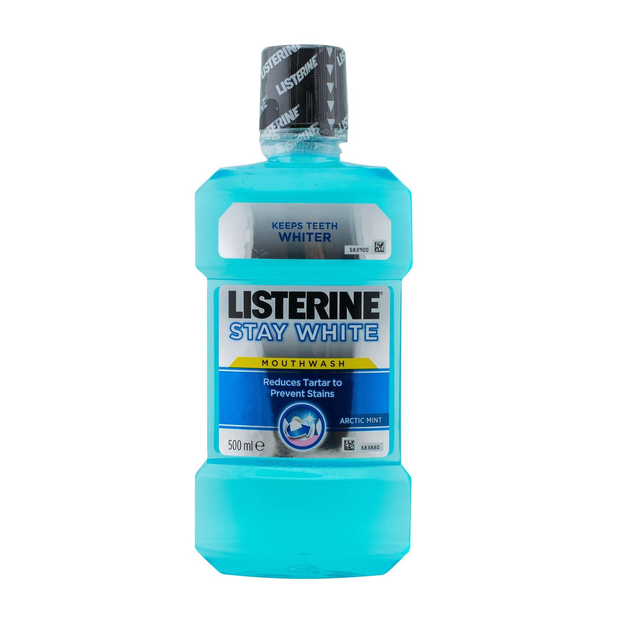 Apa de gura Stay White500 ML +Periuta GRATIS, Listerine