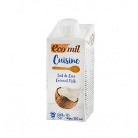 Crema Vegetala Bio pentru Gatit pe Baza de Cocos, 200 ML Ecomil Cuisine
