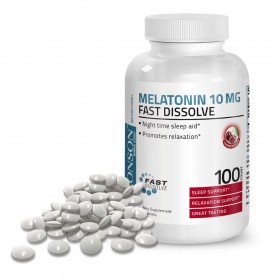Melatonina 10 Mg, 100 cps, Aroma Cirese, Bronson