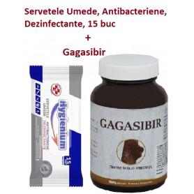 Servetele Umede, Antibacteriene, Dezinfectante, 15 buc + Gagasibir