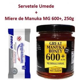 Servetele Umede, 15 buc + Miere de Manuka MG 600+, 250g