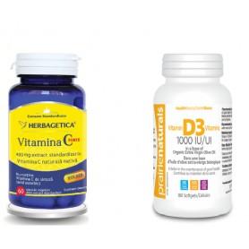 Vitamina C Forte, 400Mg, 60 cps vegetale