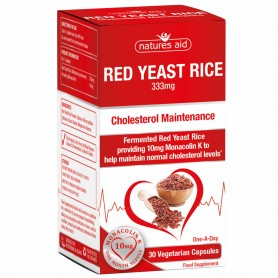 Drojdie de Orez Rosu, Red Yeast Rice 30 cps vegetale Natures Aid
