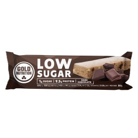 Batoane Proteice, Low Sugar Ciocolata Neagra, 30 g Gold Nutrition