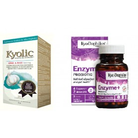 Usturoi, One a Day, Kyolic 30 comprimate + Enzime Digestive, Kyo Dophilus, 60 cps