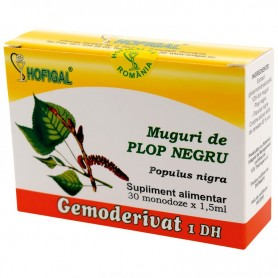 Muguri de plop negru - Gemoderivat 30 monodoza