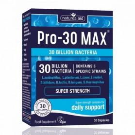 Natures Aid PRO-30 Max complex probiotice, 30 capsule vegetale