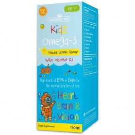 Kidz Omega 3 cu Vitamina D3, 150ml Natures Aid