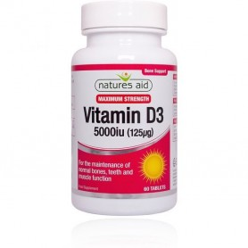 Vitamina D3 Natures Aid 5000 iu - 60 comprimate