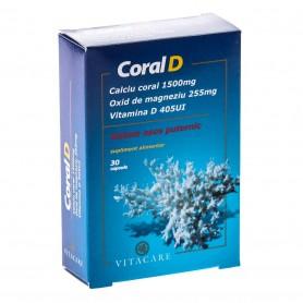 Coral D, Calciu Magneziu, Vitamina D 30cps VitaCare