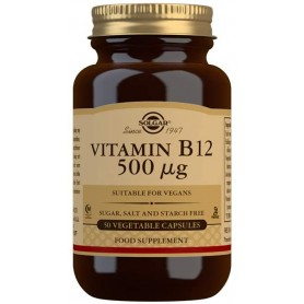 Vitamin B-12 500μg veg.caps 50s SOLGAR