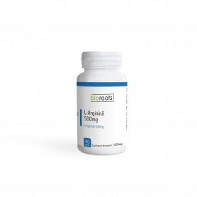 L-Arginina 500mg, 90 capsule vegetale Bioroots