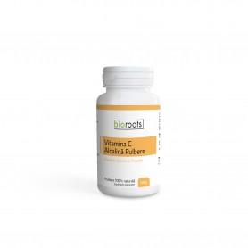 Vitamina C Alcalina pulbere 100% naturala, 100g Bioroots