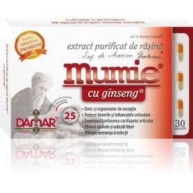 EXTRACT PURIFICAT DE RASINA MUMIE CU GINSENG - 30 CPS DAMAR