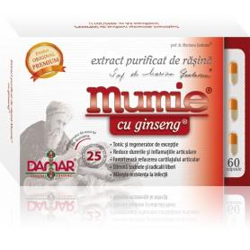 EXTRACT PURIFICAT DE RASINA MUMIE CU GINSENG - 60 CPS DAMAR