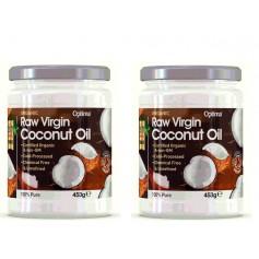 2X Ulei de Cocos 453ML Raw Organic Virgin ( Presat la Rece)
