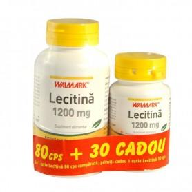 Lecitina 1200 Mg (80 Cps + 30 Cps Cadou) Walmark