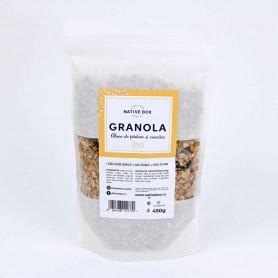 Granola cu alune de padure si coacaze negre fara zahar 450g