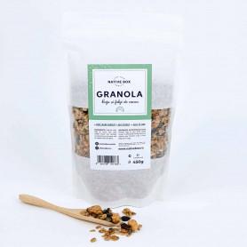 Granola cu caju si fulgi de cacao fara zahar 450g