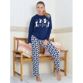 Pijama Dama Bumbac PMK174