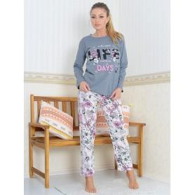 Pijama Dama Bumbac PMK175