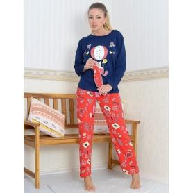 Pijama Dama Bumbac PMK173