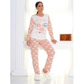 Pijama Dama Bumbac PMK171